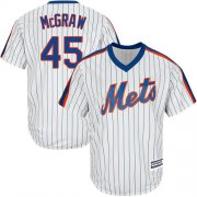 Wholesale Cheap Mets #45 Tug McGraw White(Blue Strip) Alternate Cool Base Stitched Youth MLB Jersey