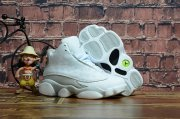 Wholesale Cheap Kids' Air Jordan 13 Retro Shoes White/Cool Grey