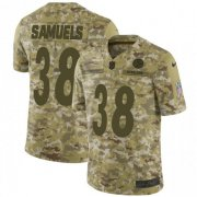 Wholesale Cheap Nike Steelers #38 Jaylen Samuels Camo Men's Stitched NFL Limited 2018 Salute to Service Jersey