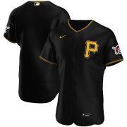 Wholesale Cheap Pittsburgh Pirates Men's Nike Black Alternate 2020 Authentic Logo Team MLB Jersey
