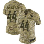 Wholesale Cheap Nike Titans #44 Vic Beasley Jr Camo Women's Stitched NFL Limited 2018 Salute To Service Jersey