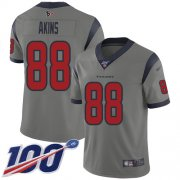 Wholesale Cheap Nike Texans #88 Jordan Akins Gray Youth Stitched NFL Limited Inverted Legend 100th Season Jersey