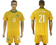 Wholesale Cheap Cote d'lvoire #21 Giovanni Home Soccer Country Jersey