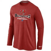 Wholesale Cheap Nike Tampa Bay Buccaneers Critical Victory Long Sleeve NFL T-Shirt Red