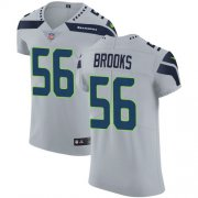 Wholesale Cheap Nike Seahawks #56 Jordyn Brooks Grey Alternate Men's Stitched NFL New Elite Jersey