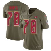 Wholesale Cheap Nike Buccaneers #78 Tristan Wirfs Olive Youth Stitched NFL Limited 2017 Salute To Service Jersey