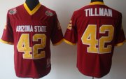 Wholesale Cheap Arizona State Sun Devils #42 Pat Tillman Red Throwback Jersey
