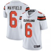 Wholesale Cheap Nike Browns #6 Baker Mayfield White Youth Stitched NFL Vapor Untouchable Limited Jersey