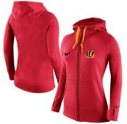Wholesale Cheap Women's Nike Cincinnati Bengals Full-Zip Performance Hoodie Red