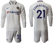Wholesale Cheap Chelsea #21 Zappa Costa Away Long Sleeves Soccer Club Jersey