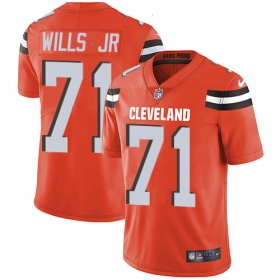 Wholesale Cheap Nike Browns #71 Jedrick Wills JR Orange Alternate Youth Stitched NFL Vapor Untouchable Limited Jersey