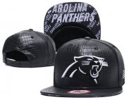 Wholesale Cheap NFL Carolina Panthers Team Logo Black Snapback Adjustable Hat S001