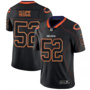 Wholesale Cheap Nike Bears #52 Khalil Mack Lights Out Black Men's Stitched NFL Limited Rush Jersey