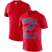 Wholesale Cheap Buffalo Bills Nike Team Logo Sideline Property Of Performance T-Shirt Red