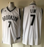 Wholesale Cheap Men's Brooklyn Nets #7 Jeremy Lin White Revolution 30 Swingman Basketball Jersey