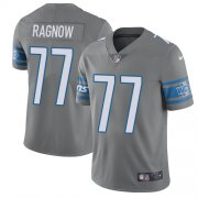 Wholesale Cheap Nike Lions #77 Frank Ragnow Gray Youth Stitched NFL Limited Rush Jersey