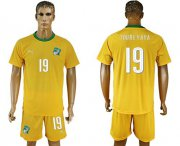 Wholesale Cheap Cote d'lvoire #19 Toure Yaya Home Soccer Country Jersey
