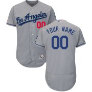 Wholesale Cheap Los Angeles Dodgers Majestic Road Flex Base Authentic Collection Custom Jersey Gray