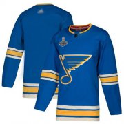 Wholesale Cheap Adidas Blues Blank Blue Alternate Authentic Stanley Cup Champions Stitched NHL Jersey