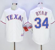 Wholesale Cheap Rangers #34 Nolan Ryan White Cool Base Stitched MLB Jersey