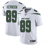 Wholesale Cheap Nike Jets #89 Chris Herndon White Men's Stitched NFL Vapor Untouchable Limited Jersey