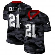 Cheap Dallas Cowboys #21 Ezekiel Elliott Men's Nike 2020 Black CAMO Vapor Untouchable Limited Stitched NFL Jersey