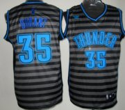 Wholesale Cheap Oklahoma City Thunder #35 Kevin Durant Gray With Black Pinstripe Jersey