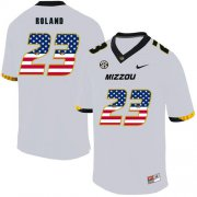 Wholesale Cheap Missouri Tigers 23 Johnny Roland White USA Flag Nike College Football Jersey