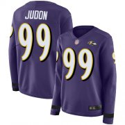 Wholesale Cheap Nike Ravens #99 Matthew Judon Purple Team Color Women's Stitched NFL Limited Therma Long Sleeve Jersey