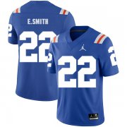 Wholesale Cheap Florida Gators 22 Emmitt Smith Blue Throwback College Football Jersey