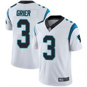 Wholesale Cheap Nike Panthers #3 Will Grier White Men's Stitched NFL Vapor Untouchable Limited Jersey