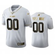 Wholesale Cheap Buffalo Bills Custom Men's Nike White Golden Edition Vapor Limited NFL 100 Jersey