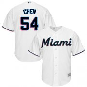 Wholesale Cheap Marlins #54 Wei-Yin Chen White Cool Base Stitched Youth MLB Jersey