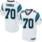 Wholesale Nike Panthers #70 Trai Turner White Men's Stitched NFL Elite Jersey