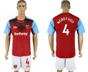 Wholesale Cheap West Ham United #4 Nordtveit Home Soccer Club Jersey