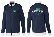 Wholesale Cheap NFL New York Jets Victory Jacket Dark Blue