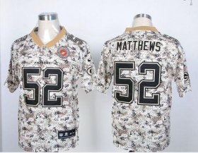 Wholesale Cheap Nike Packers #52 Clay Matthews Camo USMC Men\'s Stitched NFL Elite Jersey