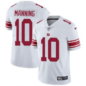 Wholesale Cheap Nike Giants #10 Eli Manning White Youth Stitched NFL Vapor Untouchable Limited Jersey