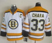 Wholesale Cheap Bruins #33 Zdeno Chara White CCM Throwback Stitched NHL Jersey