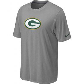 Wholesale Cheap Nike Green Bay Packers Sideline Legend Authentic Logo Dri-FIT NFL T-Shirt Light Grey