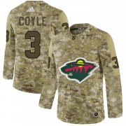 Wholesale Adidas Wild #3 Charlie Coyle Green Home Authentic Stitched NHL Jersey