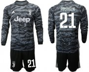 Wholesale Cheap Juventus #21 Pinsoglio Black Goalkeeper Long Sleeves Soccer Club Jersey