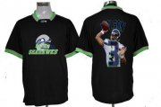 Wholesale Cheap Nike Seahawks #3 Russell Wilson Black Men's NFL Game All Star Fashion Jersey