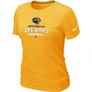 Wholesale Cheap Women's Nike Jacksonville Jaguars Critical Victory NFL T-Shirt Yellow