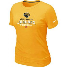 Wholesale Cheap Women\'s Nike Jacksonville Jaguars Critical Victory NFL T-Shirt Yellow