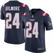 Wholesale Cheap Nike Patriots #24 Stephon Gilmore Navy Blue Youth Stitched NFL Limited Rush Jersey