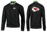 Wholesale NFL Kansas City Chiefs Team Logo Jacket Black_4