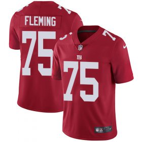 Wholesale Cheap Nike Giants #75 Cameron Fleming Red Alternate Men\'s Stitched NFL Vapor Untouchable Limited Jersey