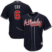 Wholesale Cheap Braves #6 Bobby Cox Navy Blue Cool Base Stitched Youth MLB Jersey