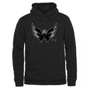 Wholesale Cheap Men's Washington Capitals Black Rink Warrior Pullover Hoodie